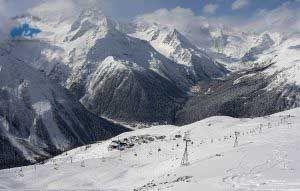 Cuales son las estaciones de esquí en Rusia