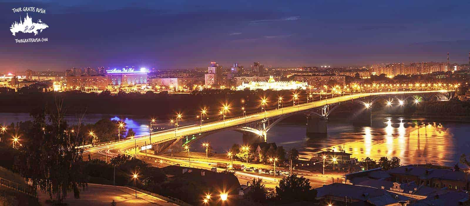 Tour nocturno en Nizhni Novgorod