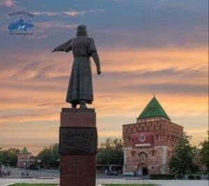 Excursion en Nizhni Novgorod Estatua de Nizhni Novgorod