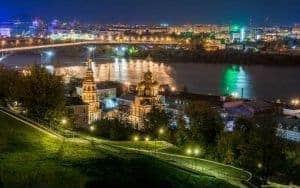 la noche en Nizhni Novgorod