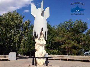 recorrido del malecon en Volgogrado