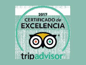 certificado de la excelencia Trip Advisor 2017