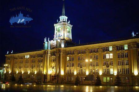 Visitar de noche Ekaterimburgo; Excursión nocturna en Ekaterimburgo; Tour nocturno en Ekaterimburgo