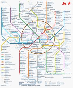 Mapa del metro de Moscu actualizado 2017