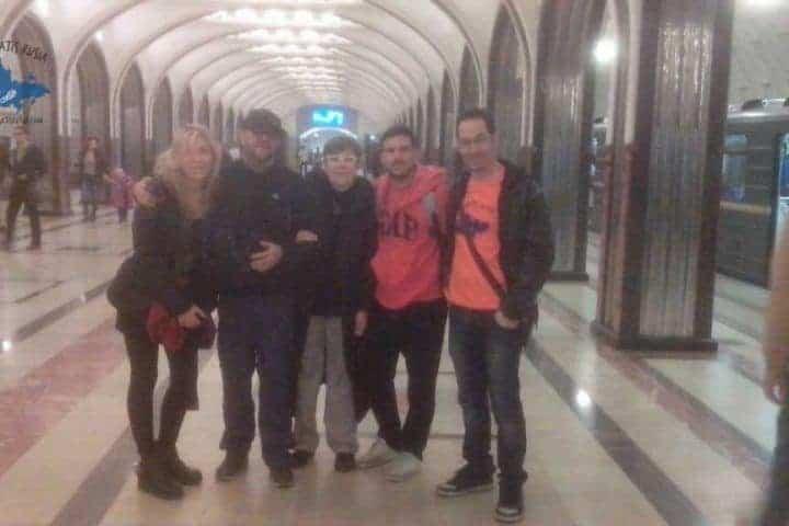 Grupo del tour del metro