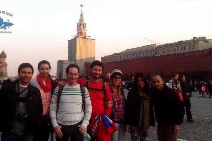 Nuestro grupo en la Plaza Roja