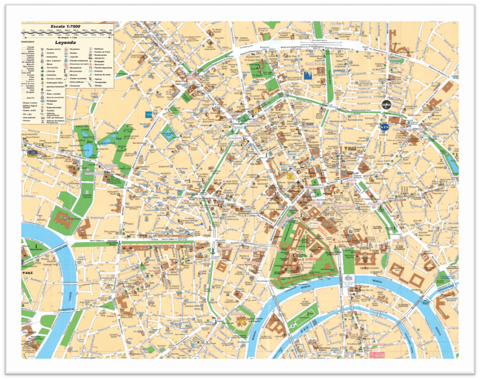 Centro historico de moscu mapa