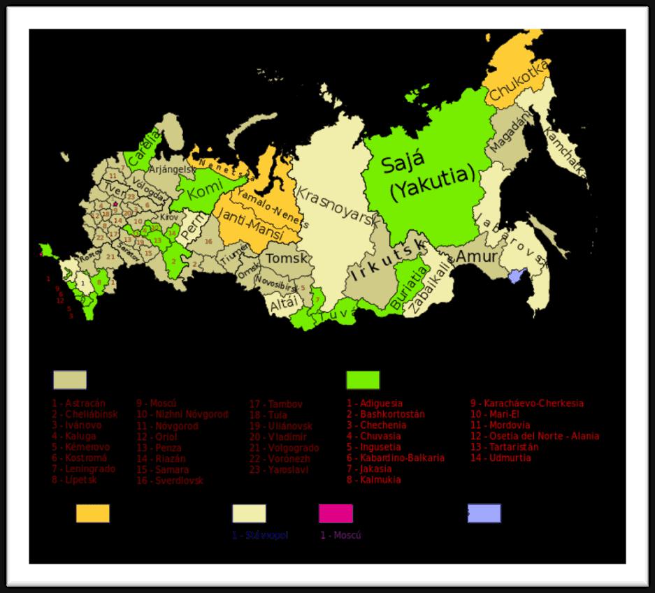 mapa geografico rusia