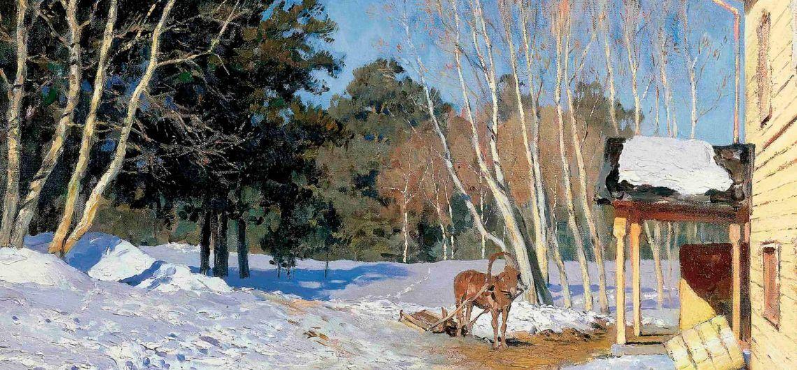 """""""Marcha"""" de Isaac Levitan. La historia de uno de los paisajes más poéticos del siglo XIX, que se almacena en la Galería Tretyakov."""
